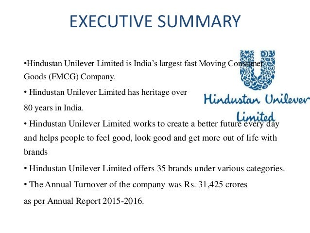 executive summary of unilever Report summary executive summary  report summary who are unilever unilever is an anglo–dutch multinational consumer goods company its.