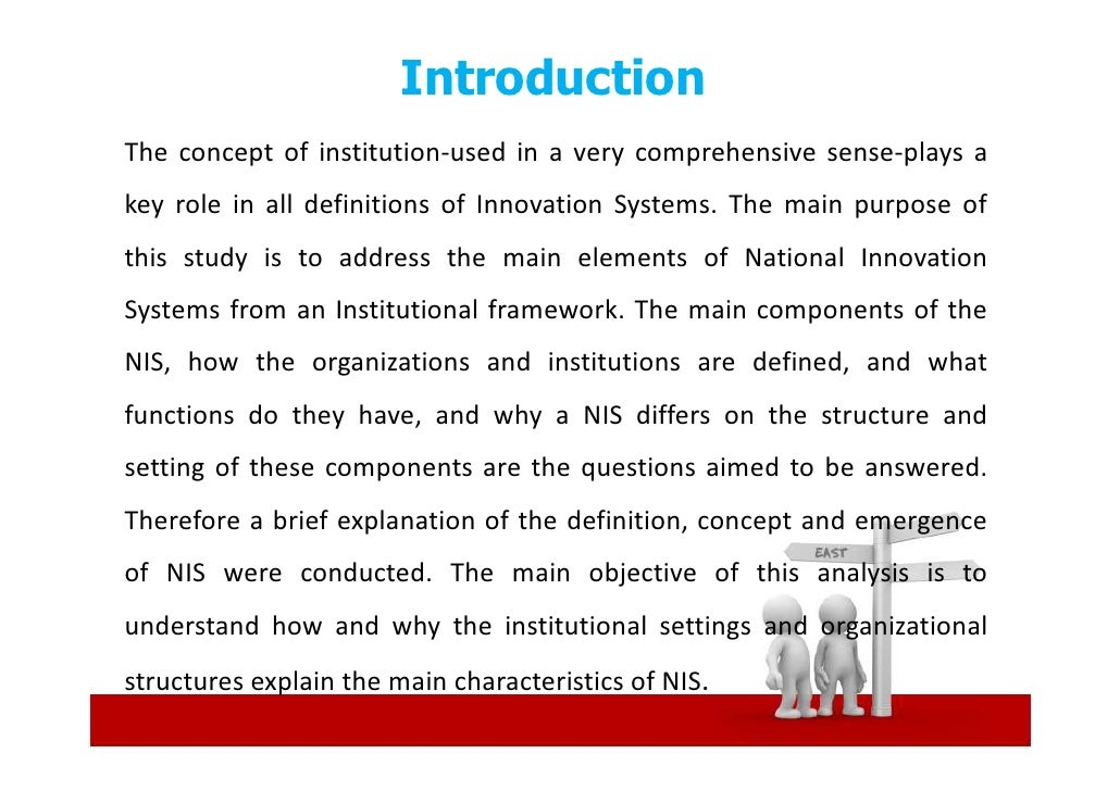 National Innovation Systems & Institutions Slide 3