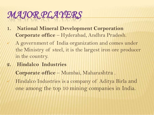 Mining sector in India