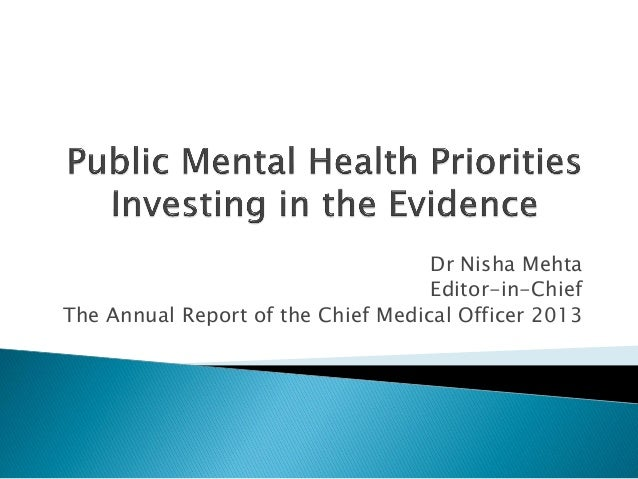 why is investing in mental health Investing in our mental health amasses mental wealth research has  demonstrated where to put those investments for the greatest return.