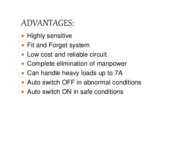 Presentation On Over Under Voltage Protection Of