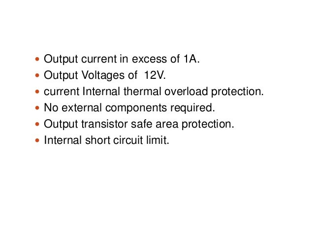 Presentation on Over-/under-voltage protection of electrical