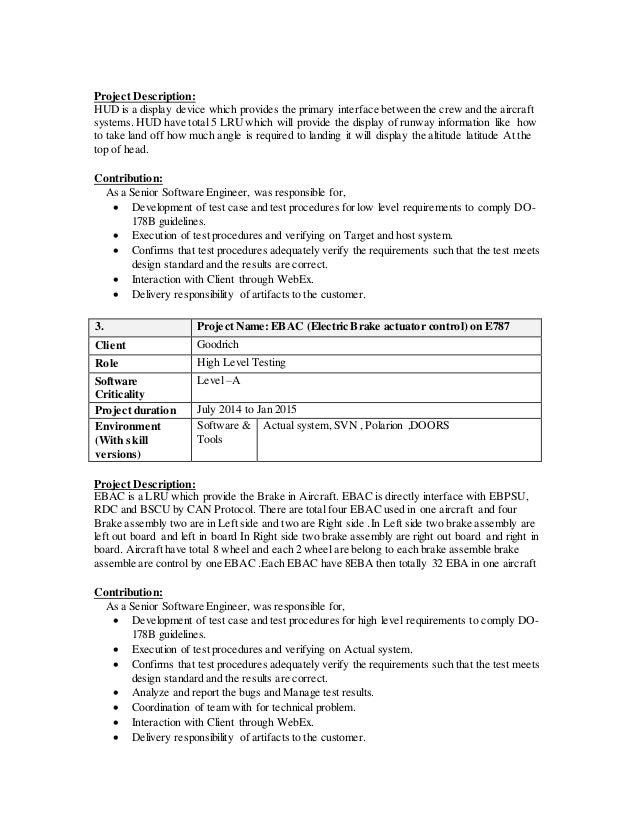 Do 178b resume