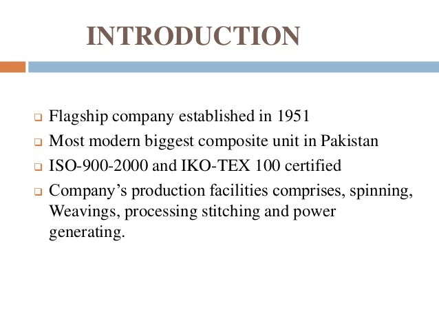 project Nishat  mill limited Slide 3