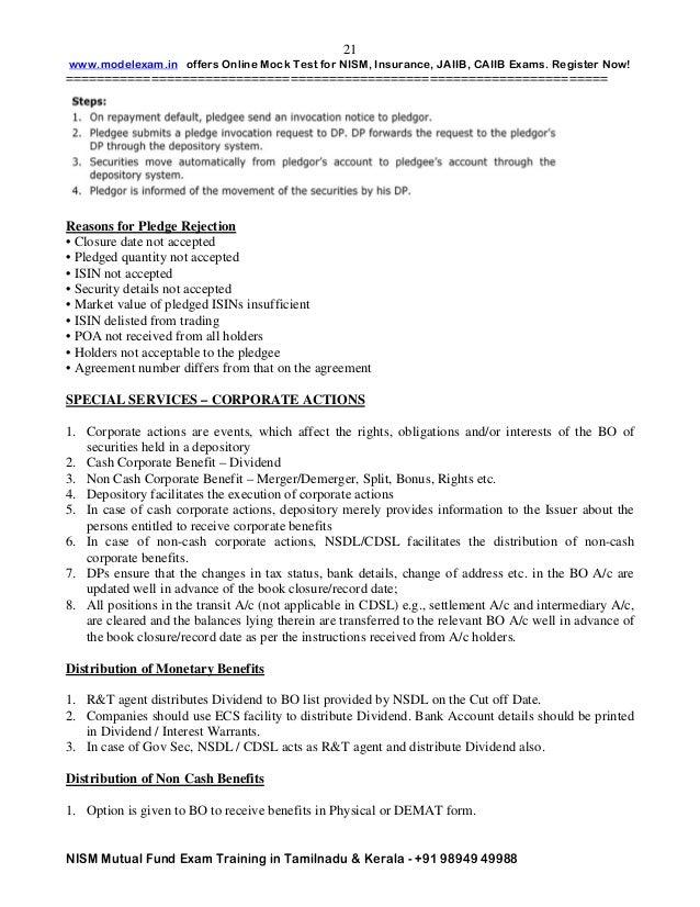 Nism exam study material