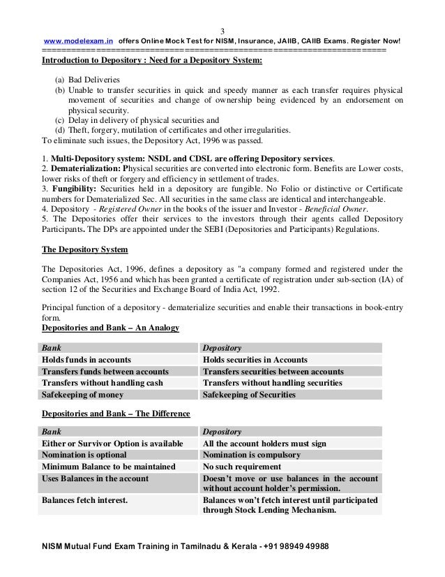 nism mutual fund study material pdf