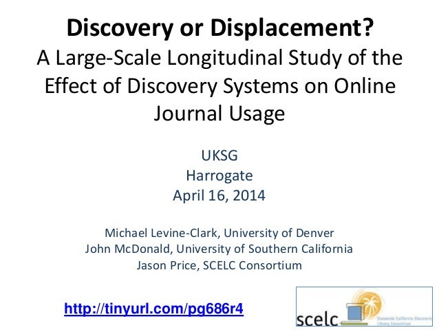 Discovery or Displacement? A Large-Scale Longitudinal Study of the Effect of Discovery Systems on Online Journal Usage UKS...