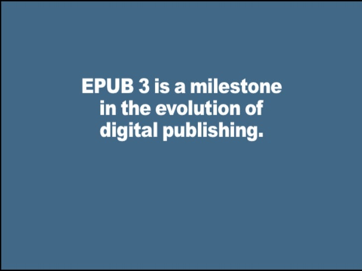 NISO Webinar: E-books (Part 1) EPUB3: Putting Electronic ...