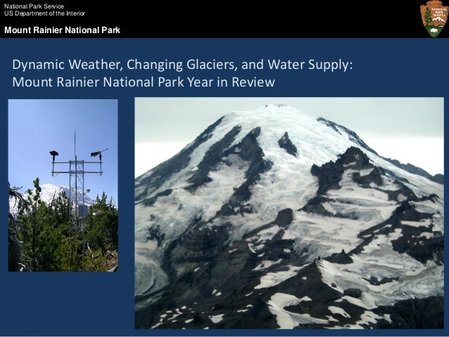 Dynamic Weather Changing Glaciers And Water Supply Mount Rainier N