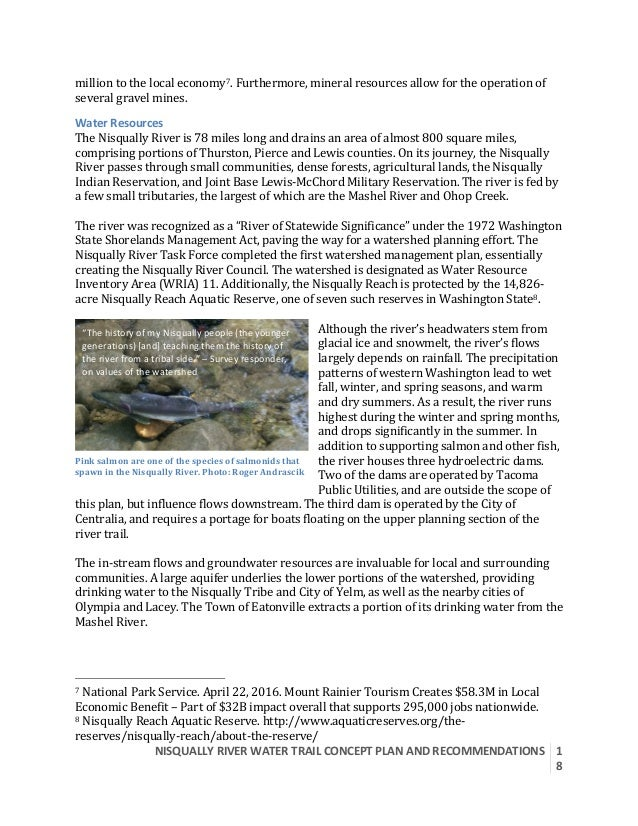 NISQUALLYRIVERWATERTRAILCONCEPTPLANANDRECOMMENDATIONS  1 8  milliontothelocaleconomy7.Furthermore,mineral...