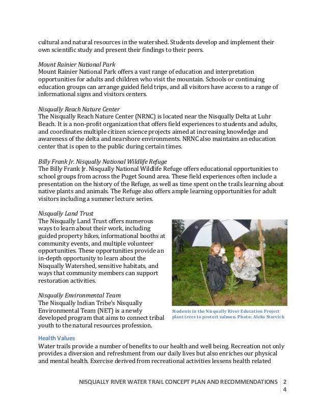 NISQUALLYRIVERWATERTRAILCONCEPTPLANANDRECOMMENDATIONS  2 4  culturalandnaturalresourcesinthewatershed.St...