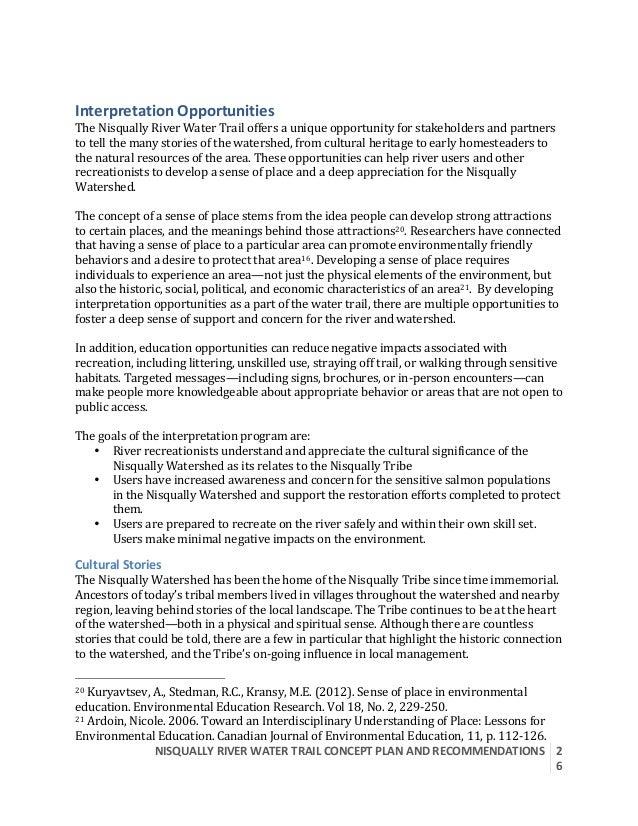 NISQUALLYRIVERWATERTRAILCONCEPTPLANANDRECOMMENDATIONS  2 6  InterpretationOpportunities TheNisquallyRiverW...
