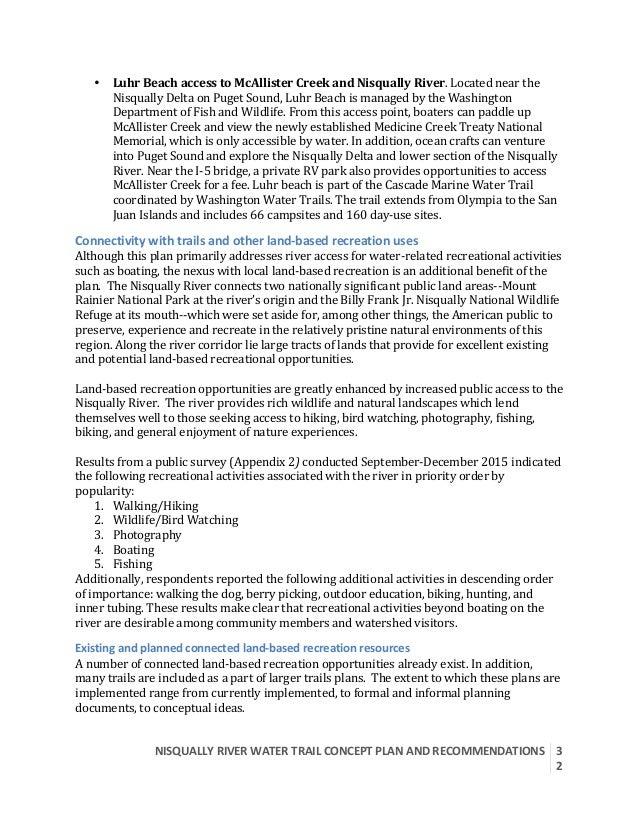 NISQUALLYRIVERWATERTRAILCONCEPTPLANANDRECOMMENDATIONS  3 2  • LuhrBeachaccesstoMcAllisterCreekandNisqual...