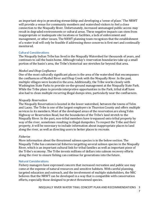 NISQUALLYRIVERWATERTRAILCONCEPTPLANANDRECOMMENDATIONS  3 7  animportantstepinpromotingstewardshipanddeve...