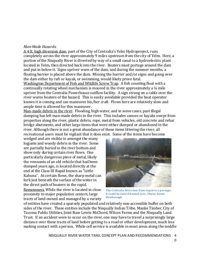 Nisqually River Water Trail Draft Concept Plan