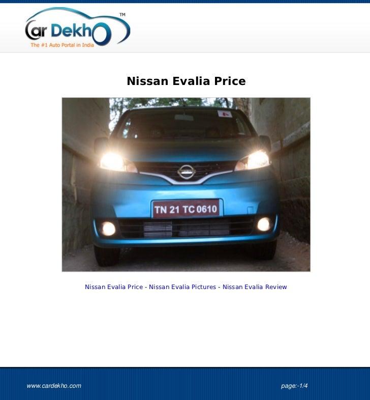 Nissan Evalia Price                   Nissan Evalia Price - Nissan Evalia Pictures - Nissan Evalia Reviewwww.cardekho.com ...