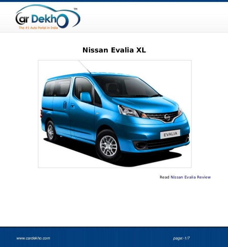 Nissan Evalia XL                                      Read Nissan Evalia Reviewwww.cardekho.com                           ...