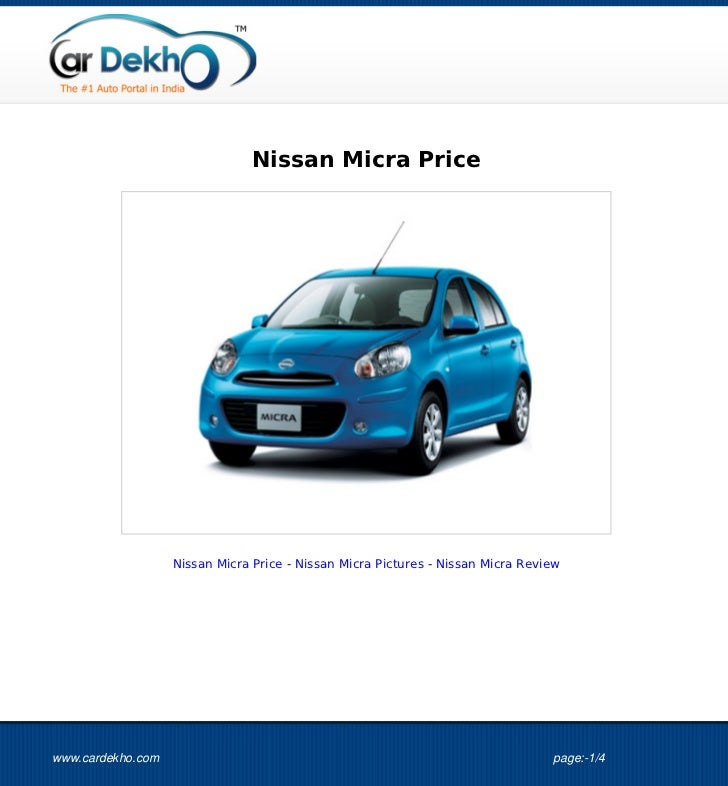 Nissan Micra Price                   Nissan Micra Price - Nissan Micra Pictures - Nissan Micra Reviewwww.cardekho.com     ...