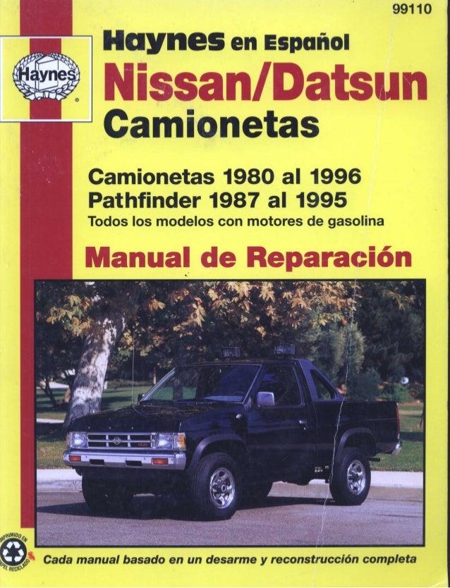 nissan d21 manual de reparaci n rh es slideshare net 1990 nissan pickup repair manual 92 Nissan Pickup