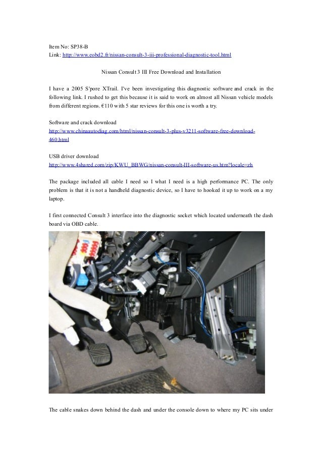 Nissan consult 3 iii free download and installation