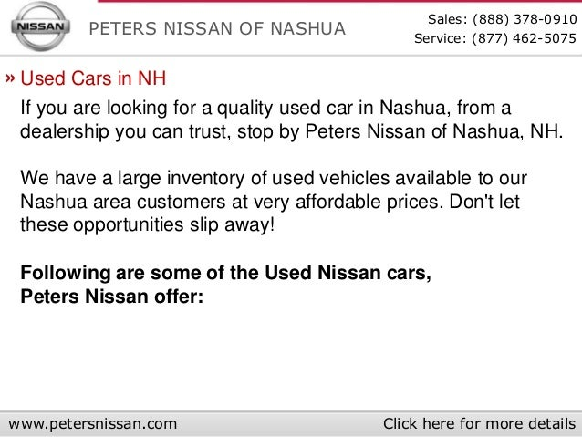 Peters Of Nashua Used Cars