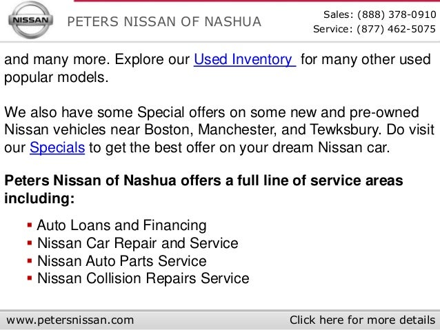 used cars near manchester peters nissan of nashua autos post. Black Bedroom Furniture Sets. Home Design Ideas