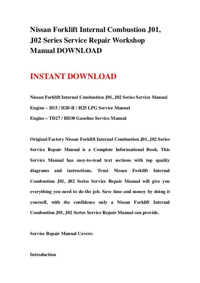 nissan forklift internal combustion j01 j02 series service repair wo rh slideshare net DMP-BD30 Firmware Panasonic BD30 Firmware Update
