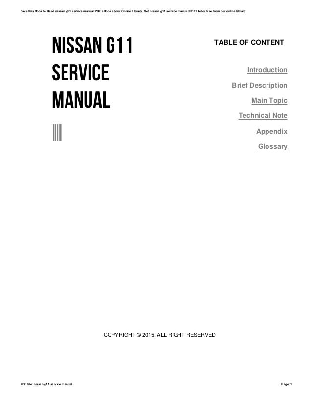01c20dad5d9 Array - nissan g11 service manual rh slideshare net