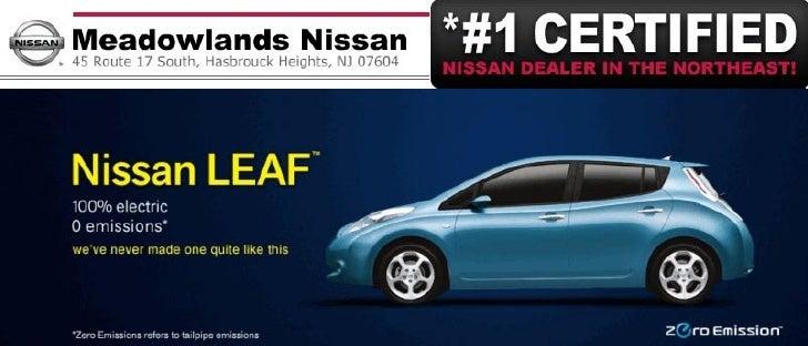 Nissan LEAF at Meadowlands Nissan Hasbrouck Heights NJ