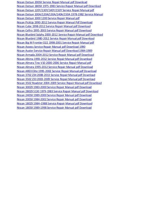 Nissan Micra Wiring Diagram Pdf - Wiring Diagrams Folder on