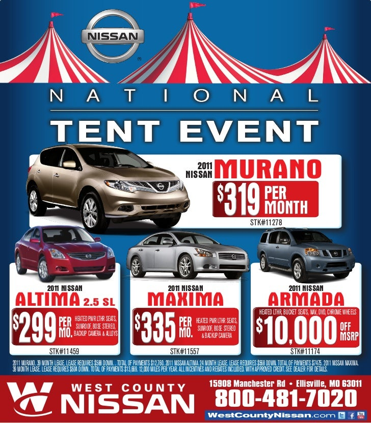 2011 NissAN MURANO .  sc 1 st  SlideShare & Nissan National Tent Event- West County Nissan- Ellisville MO