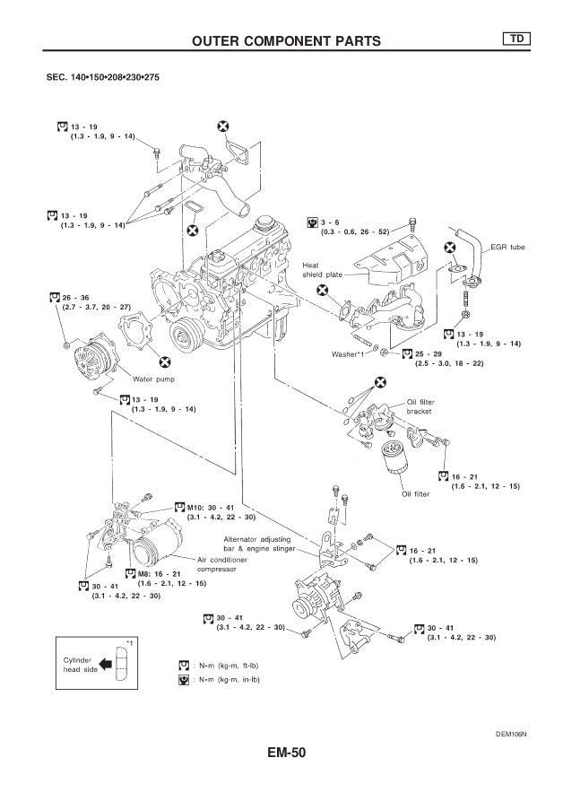 nissan qd32 engine service manual rh slideshare net Nissan Stereo Wiring Diagram nissan qd32 engine wiring diagram