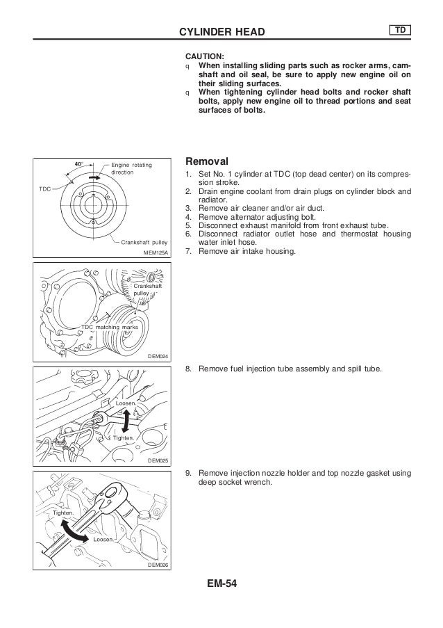 nissan forklift internal combustion 1d1 1d2 series service repair workshop manual download