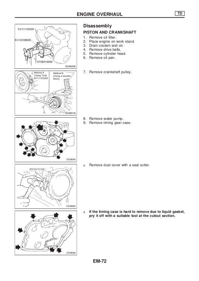 nissan qd32 engine service manual