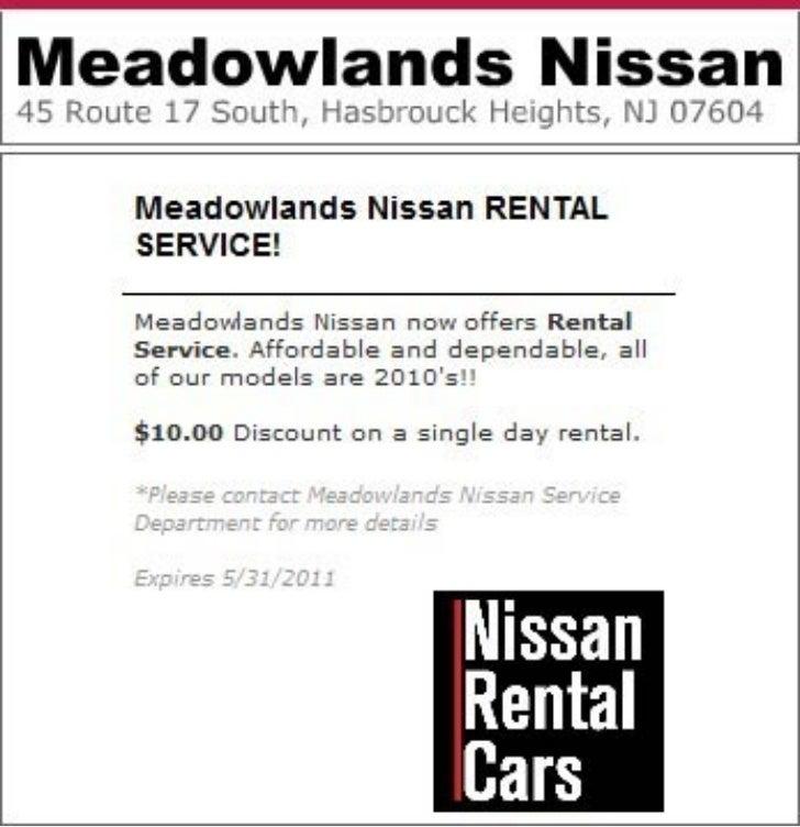 Nissan Rental Service Bloomfield NJ | Meadowlands Nissan