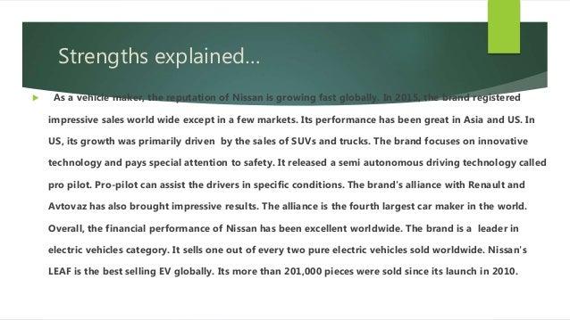 Nissan Motors SWOT Analysis, Competitors & USP
