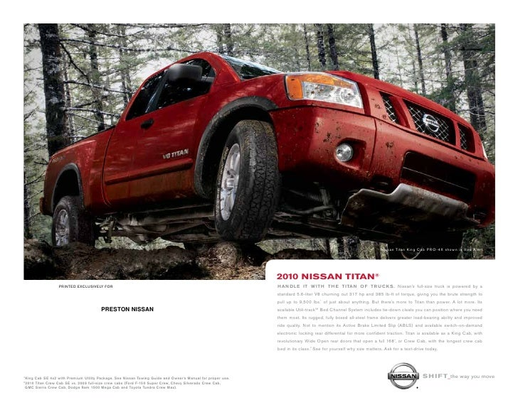 nissan titan King cab pro-4x shown in red Alert.                                                                          ...