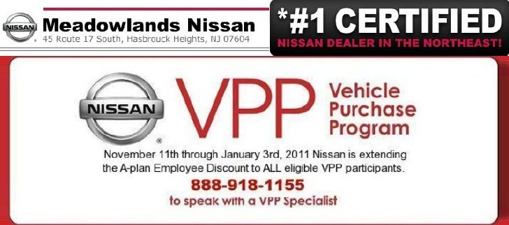 Nissan Vehicle Purchase Program At Meadowlands Nissan Hasbrouck Heights NJ