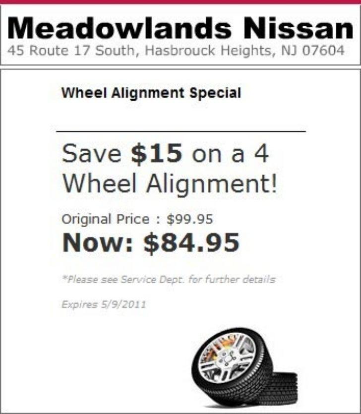 Nissan Wheel Alignment Special Bloomfield NJ | Meadowlands Nissan