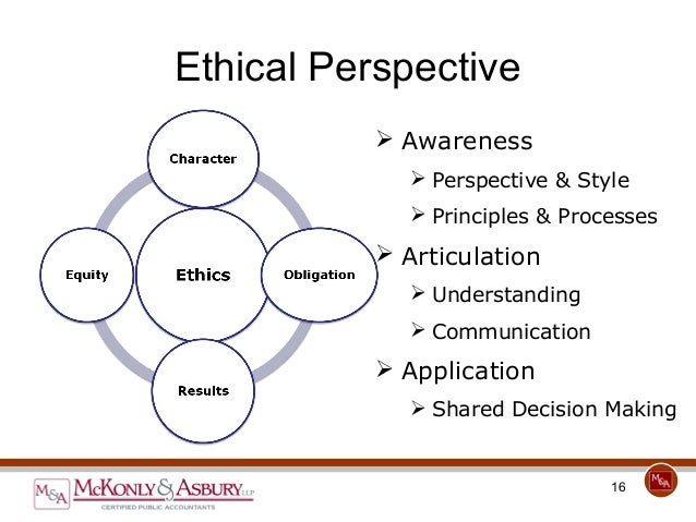McKonly & Asbury Webinar - Business and Personal Ethics