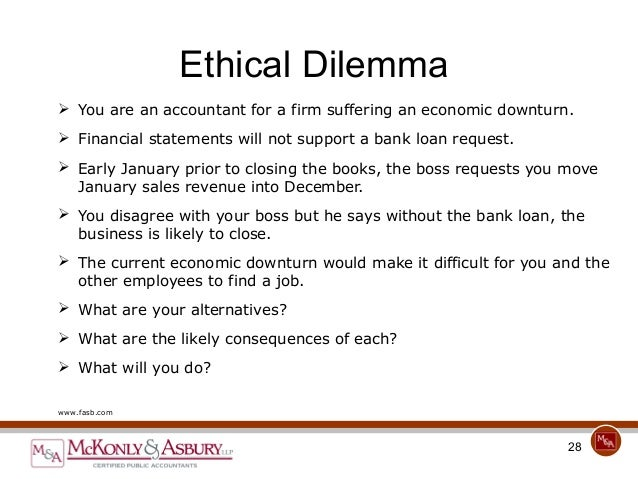 ethical dilemma in business articles