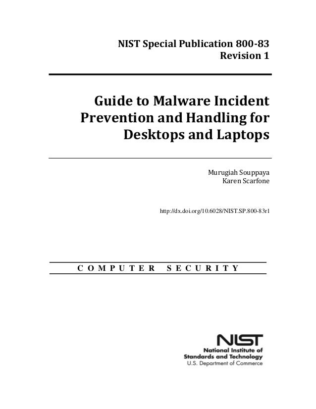 NIST Malware Attack Prevention SP 800-83