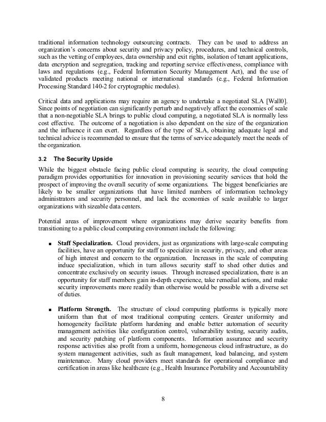 guidelines on security and privacy in public cloud computing 16