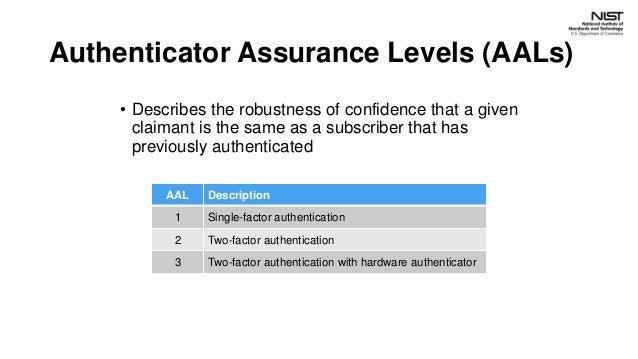NIST 800-63 Guidance & FIDO Authentication