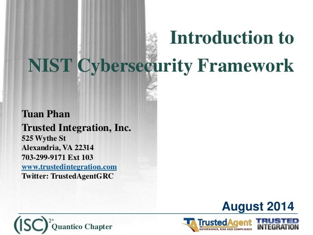 Introduction to NIST Cybersecurity Framework