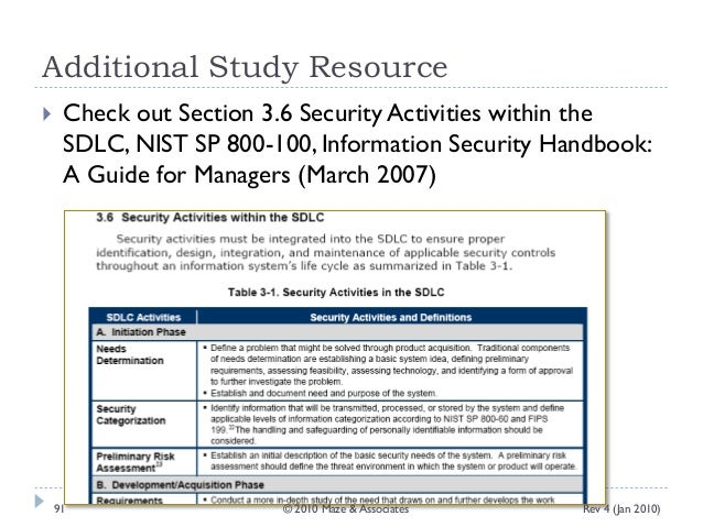 nist sp 800-100 information security handbook a guide for managers