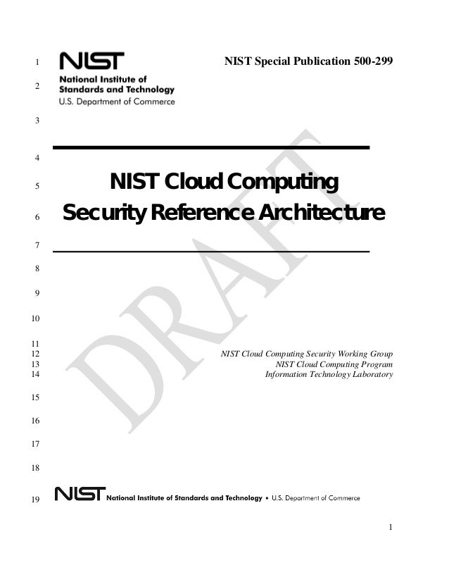 nist cloud computing security reference architecture 800