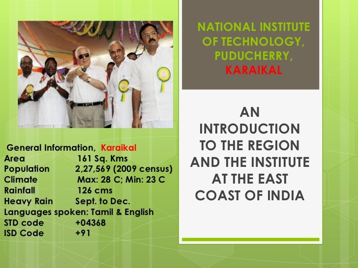 NATIONAL INSTITUTE                                           OF TECHNOLOGY,                                            PUD...