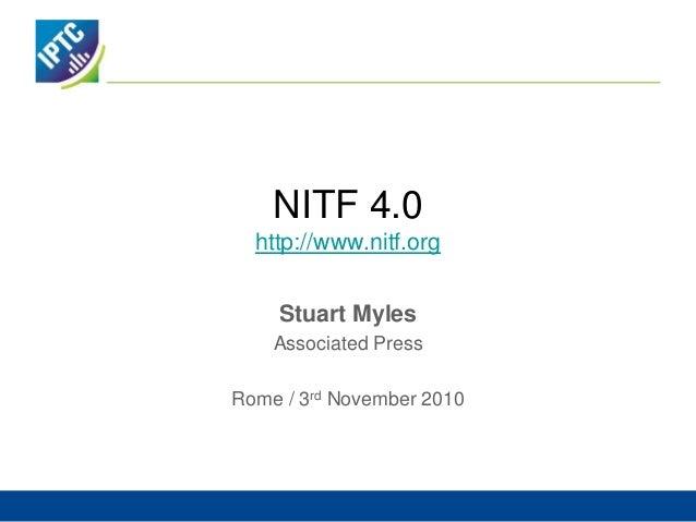 NITF 4.0http://www.nitf.org<br />Stuart Myles<br />Associated Press<br />Rome / 3rd November 2010<br />