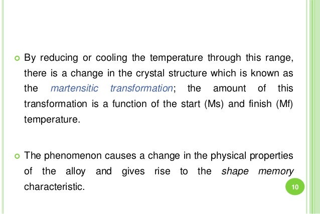  By reducing or cooling the temperature through this range, there is a change in the crystal structure which is known as ...